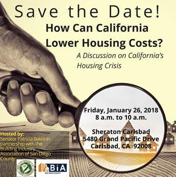 January 26, 2018: Housing Crisis Discussion -- Carlsbad